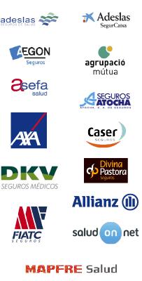 compañías aseguradoras con las que trabajamos